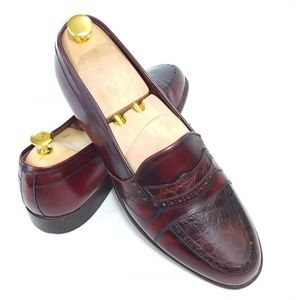 Mario Bruni Mens 10.5 Casual Loafer Embossed Decor